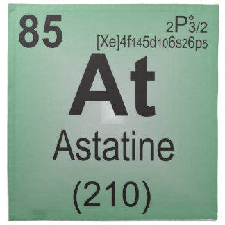 Astatine Individual Element of the Periodic Table Napkin