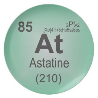 Astatine Individual Element of the Periodic Table Plate