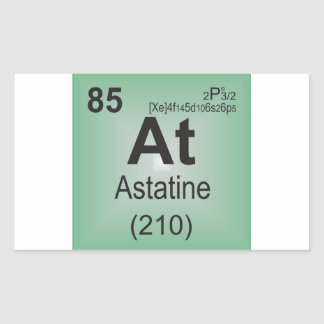 Astatine Individual Element of the Periodic Table Rectangular Sticker