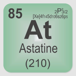 Astatine Individual Element of the Periodic Table Square Sticker