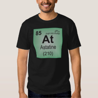 Astatine Individual Element of the Periodic Table T Shirt