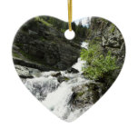 Aster Creek at Glacier National Park Ceramic Ornament