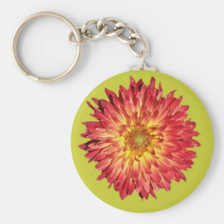 aster cutout lime keychain