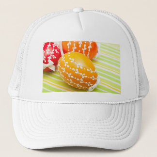 aster eggs trucker hat
