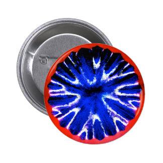 Aster Flower Art Pinback Buttons