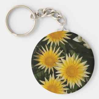 aster flower in the garden keychain