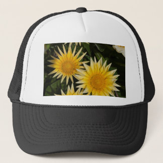 aster flower in the garden trucker hat