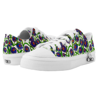 Aster Flower Pattern on Sneakers/Shoes Printed Shoes