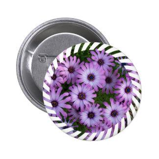 Aster Flowers Round Button
