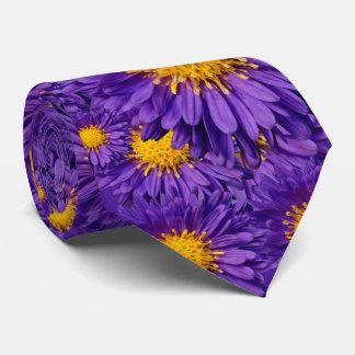 Aster Kickin' Lilac Blue Michaelmas Daisies Tie
