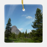 Aster Park Trail at Glacier National Park Ceramic Ornament