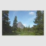 Aster Park Trail at Glacier National Park Rectangular Sticker