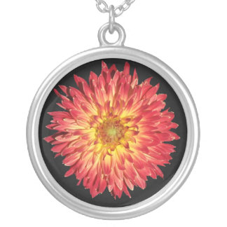 aster silver plated necklace