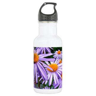 Aster Tongolensis Wartburg Star Purple Flower Water Bottle