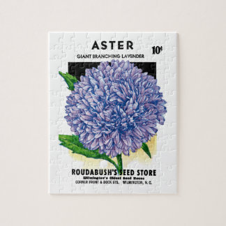 Aster Vintage Seed Packet Jigsaw Puzzle