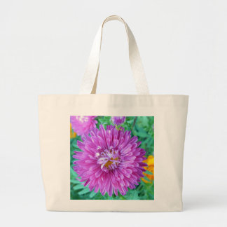 Aster with Crab Spider Large Tote Bag