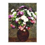 Asteres en un florero - pintura de Henri Impresión En Lienzo