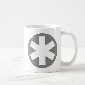 Asterisco - gris tazas de café