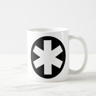 Asterisco - negro tazas de café