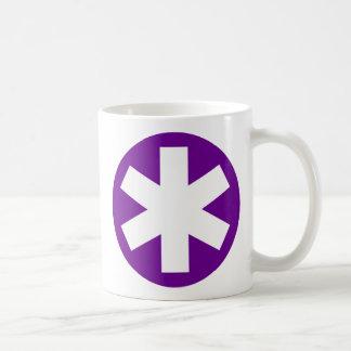 Asterisco - púrpura taza de café