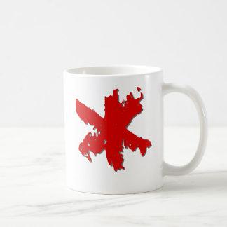 Asterisco rojo taza