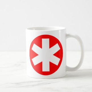 Asterisco - rojo tazas de café