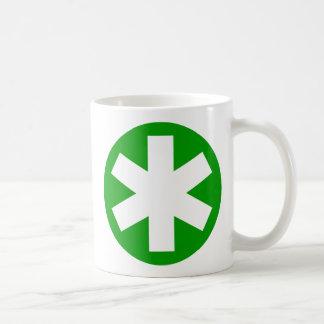 Asterisco - verde taza de café