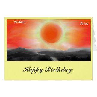 Asterisk Aries, Aries birthday map Card
