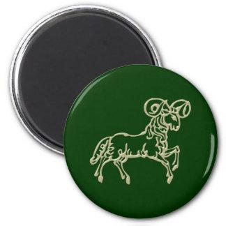 Asterisk Aries zodiac sign Aries 2 Inch Round Magnet