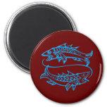 Asterisk of fish zodiac sign Pisces Fridge Magnets