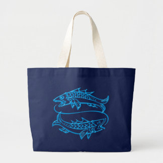 Asterisk of fish zodiac sign Pisces Jumbo Tote Bag