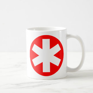 Asterisk - Red Coffee Mug
