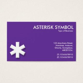 Asterisk Symbol - Purple (663399) Business Card