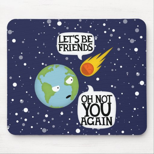 Asteroid again mouse pad