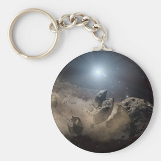 Asteroid bites the dust PIA11735 Keychain