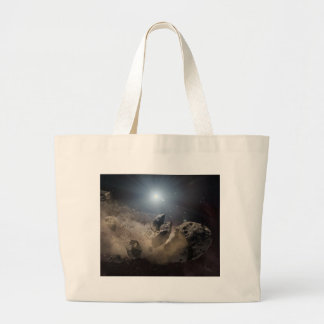 Asteroid bites the dust PIA11735 Large Tote Bag