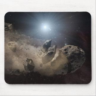 Asteroid bites the dust PIA11735 Mouse Pad