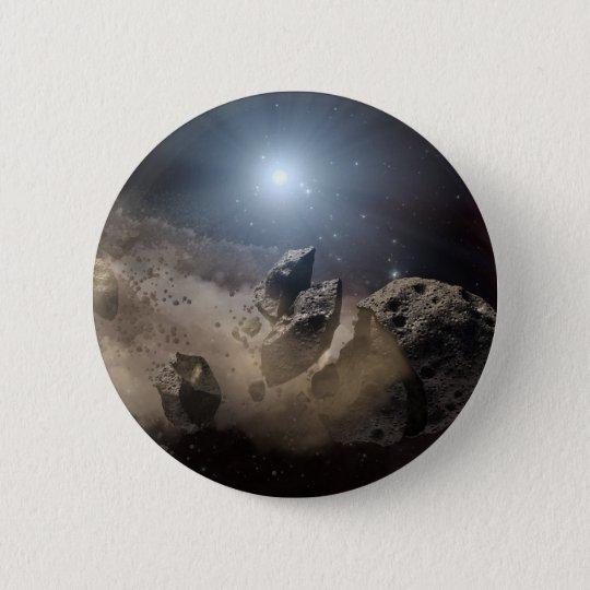 Asteroid bites the dust PIA11735 Pinback Button