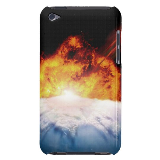Asteroid Colliding with Earth Barely There iPod Case