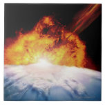 Asteroid Colliding with Earth Ceramic Tiles