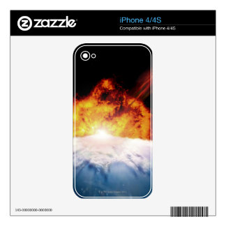 Asteroid Colliding with Earth iPhone 4S Decals