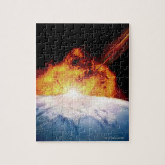 Asteroid Colliding with Earth Jigsaw Puzzle