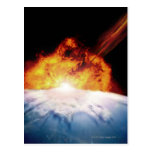 Asteroid Colliding with Earth Postcard