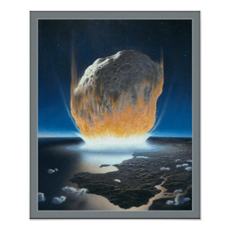 Asteroid Collision Poster