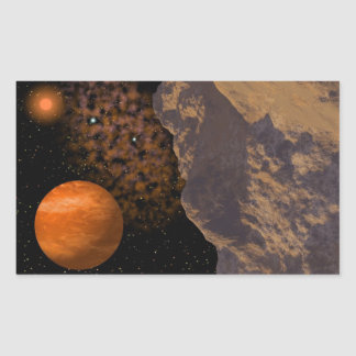 Asteroid Deep Space Scene Stickers
