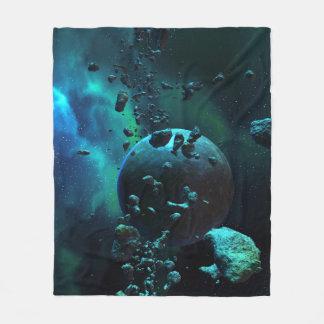 Asteroid Field Fantasy Fleece Blanket