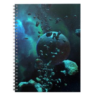Asteroid Field Fantasy Notebook