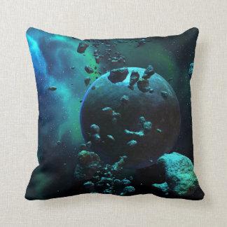Asteroid Field Fantasy Throw Pillow
