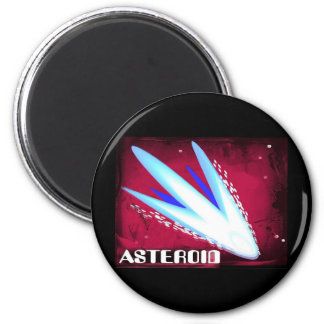 Asteroid Fiery Night 2 Inch Round Magnet