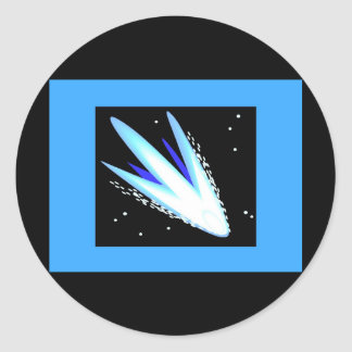 Asteroid In Cerulean Blue Classic Round Sticker